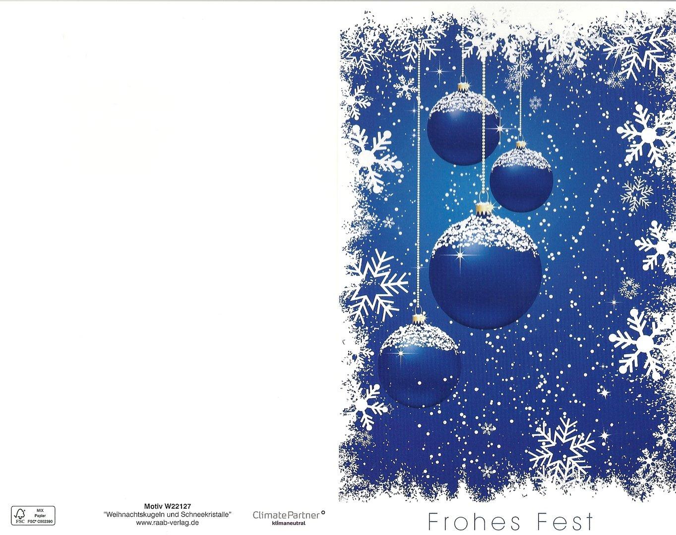 weihnachtskarte frohes fest raab verlag doreens. Black Bedroom Furniture Sets. Home Design Ideas