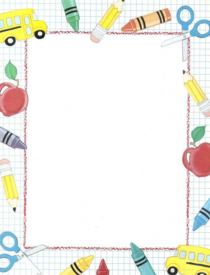 Wunderbar Schule Schreibpapier Vorlage Bilder ...