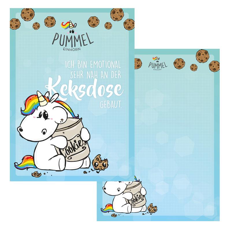 Letter Pad A4 Pummeleinhorn Keksdose Doreens Briefpapierwelt