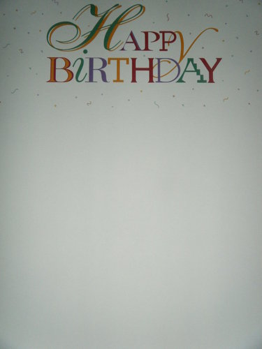 Briefpapier Happy Birthday Idea Art