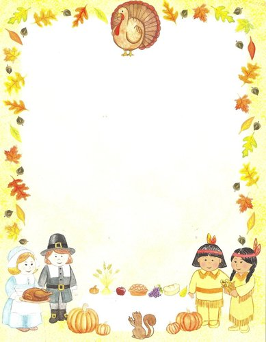 Briefpapier First Thanksgiving Idea Art