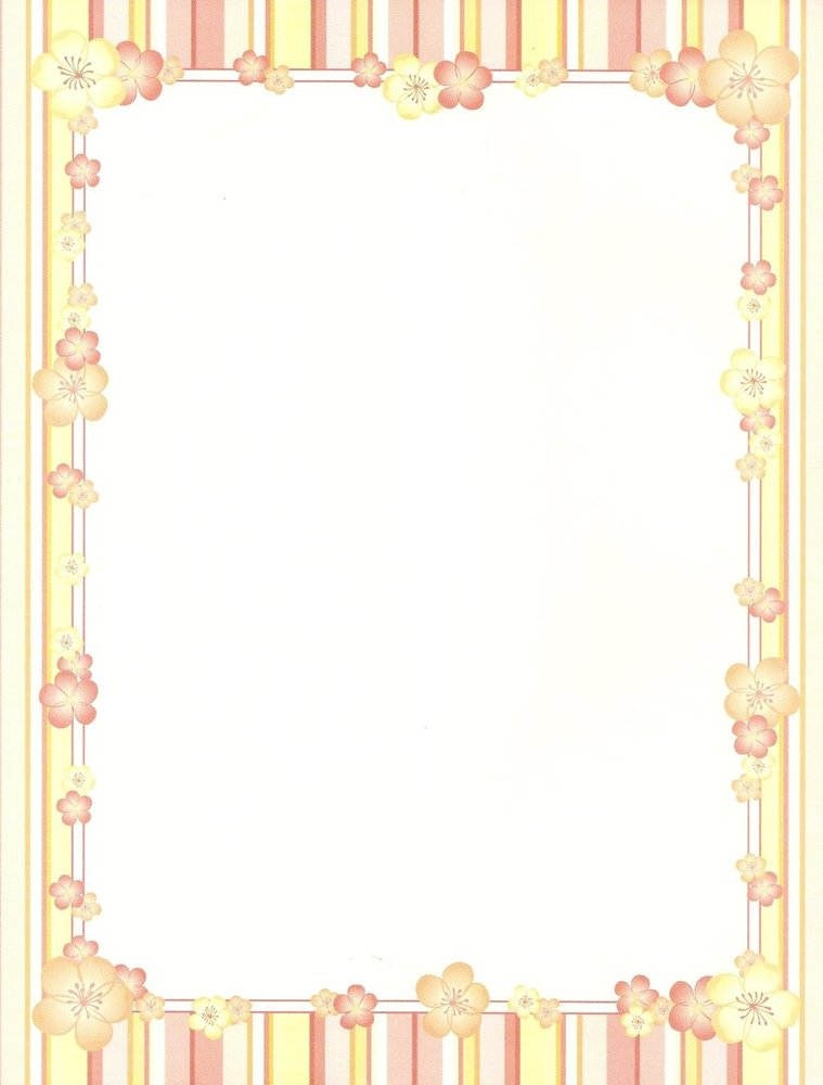 picture about Printable Letter Papers identified as Letter Paper Very little Bouquets United states of america