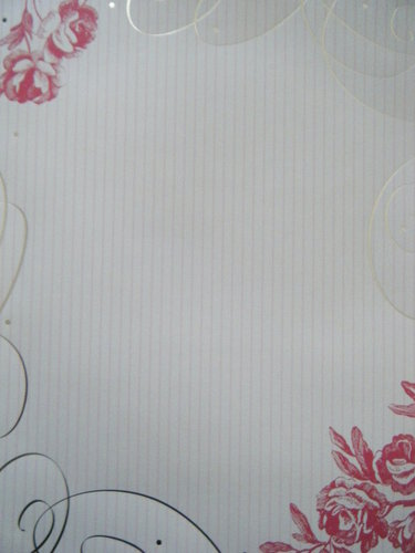 Briefpapier Rose Rhapsody Paper Direct