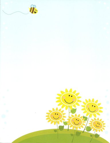 Briefpapier Sunny Flowers Idea Art