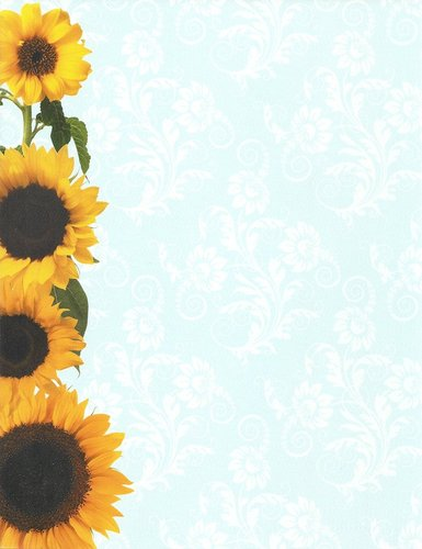 Briefpapier Sunflower Tapestry Idea Art