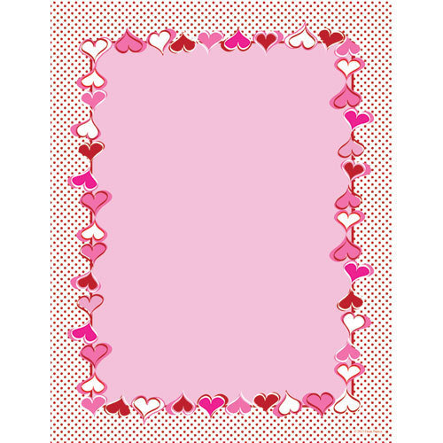 letter paper heart dots great papers