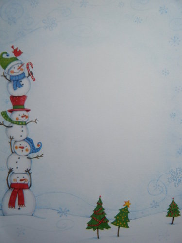 Briefpapier Silly Snowmen Idea Art
