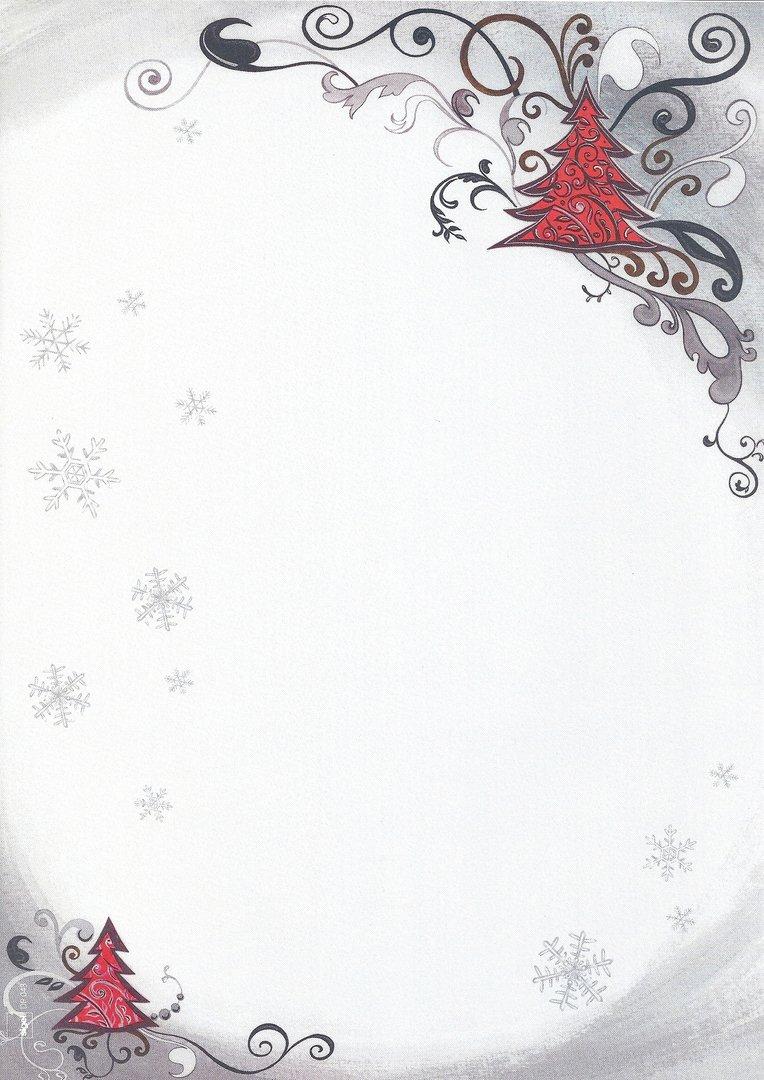 briefpapier roter weihnachtsbaum sigel doreens. Black Bedroom Furniture Sets. Home Design Ideas