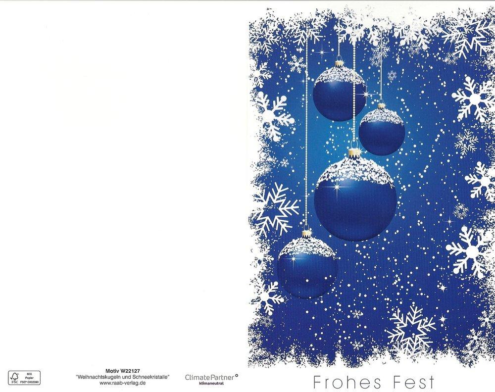 Card Verlag Weihnachtskarten.Christmas Card Frohes Fest Raab Verlag