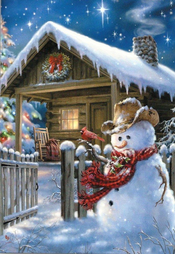 Leanin Tree Christmas Cards.Christmas Card Snowmen Leanin Tree Usa