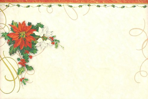 Letter Paper Christmas Star - Doreens Briefpapierwelt