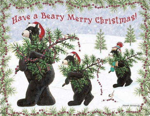 Beary Christmas Cards Posies and Such