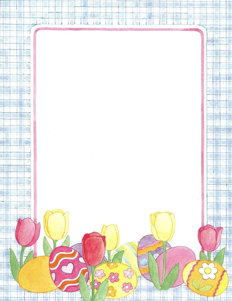 picture regarding Easter Stationery Printable known as Letter Paper Easter Treasures Principle Artwork
