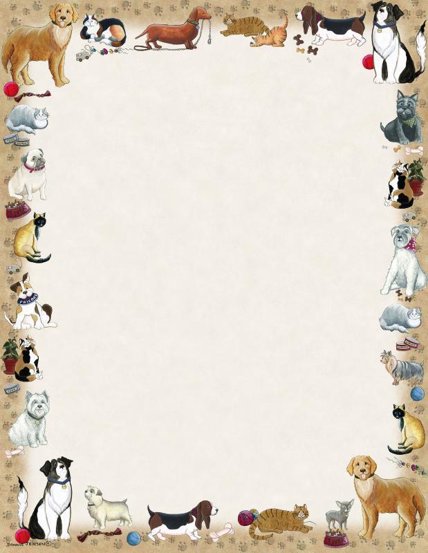 Briefpapier Hunde Posies And Such Doreens Briefpapierwelt