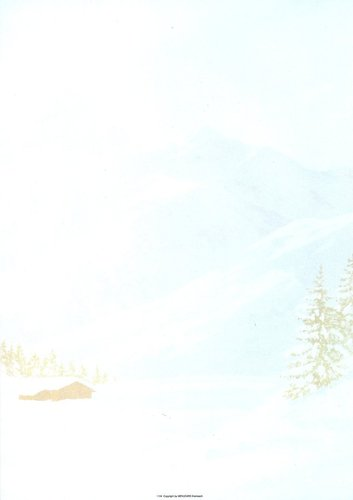 Briefpapier Winterlandschaft Menucard