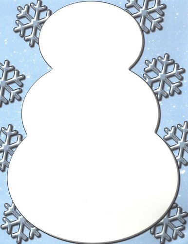 Briefpapier Snowman The Image Shop