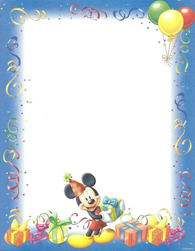 Briefpapier Birthday Mickey Mouse Gartner