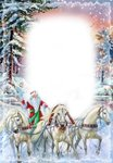 Letter Paper Santa with horses Wolfgang Pudlich