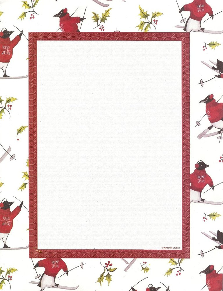 image about Printable Letter Papers identify Letter Paper Penguin Paper Pics