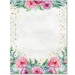 Briefpapier Confetti Flowers Image Shop