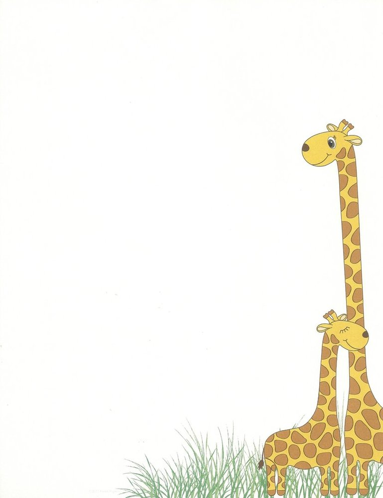 image relating to Printable Letter Papers known as Letter Paper Giraffes Superior Papers