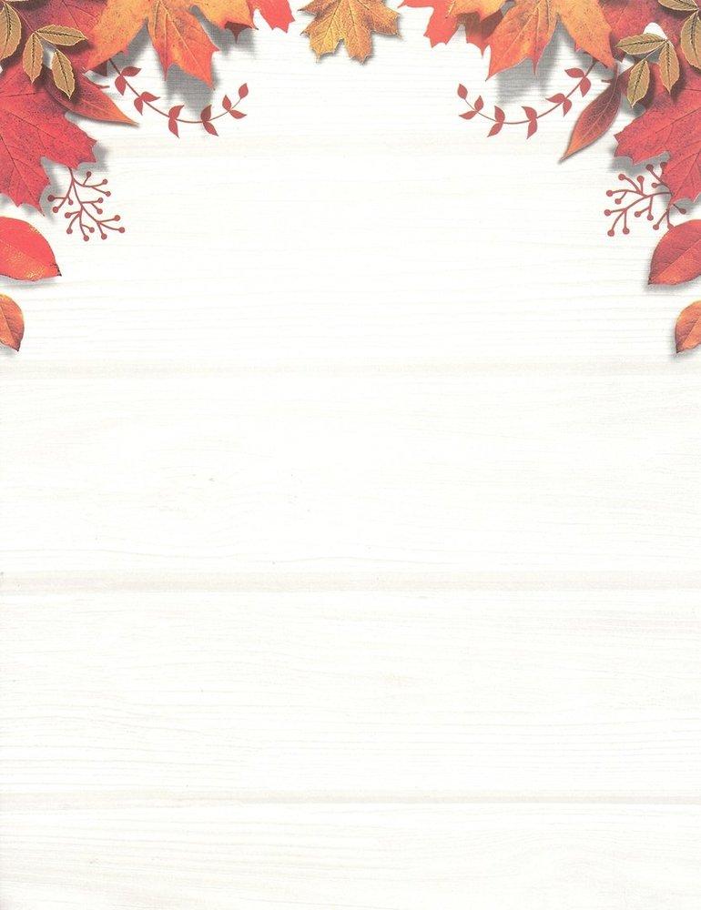 Letter Paper Fall Leaves Desktop Publishing Supplies Doreens Briefpapierwelt