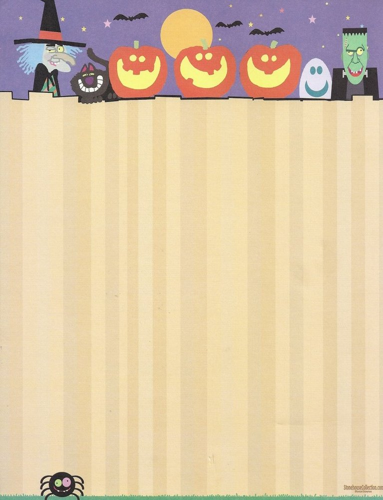 It's just an image of Halloween Stationery Printable regarding border