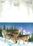 Card Wolves In Snowy Forest Leanin Tree