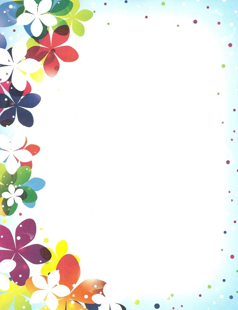 graphic about Printable Letter Papers referred to as Letter Paper Vibrant Floral Paper Guide United states