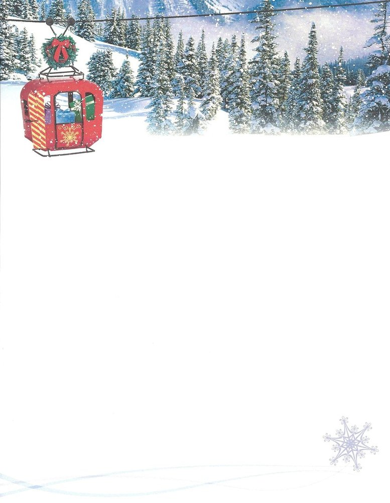 image regarding Printable Christmas Letter Paper referred to as Letter Paper Alpine Vacation Paper Lead United states
