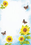 Letter Pad Sunflowers WUP A4